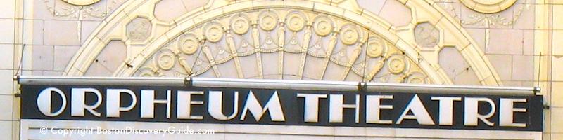 Orpheum Theatre in Boston