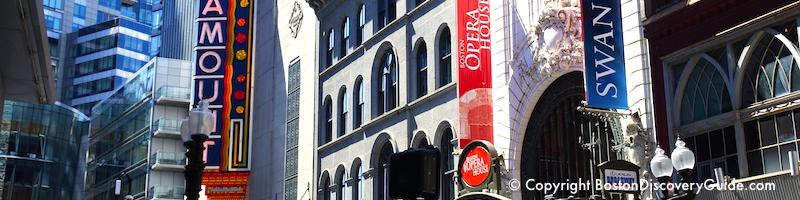 Boston's Theatre District shows - January