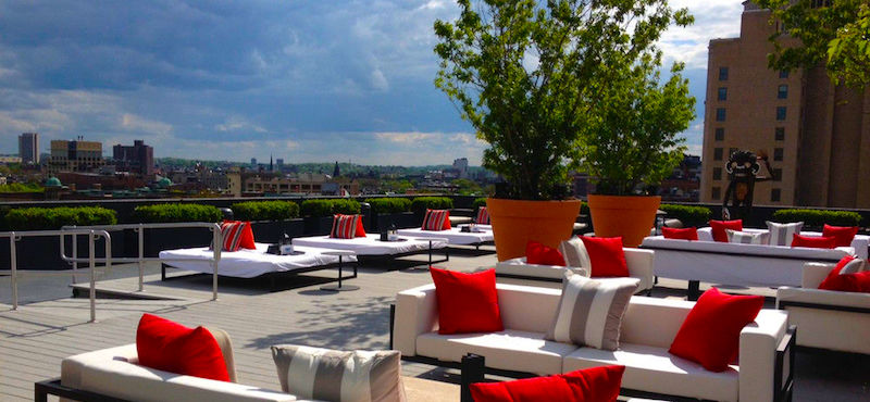 Rooftop terrace at the Revere Hotel in Boston
