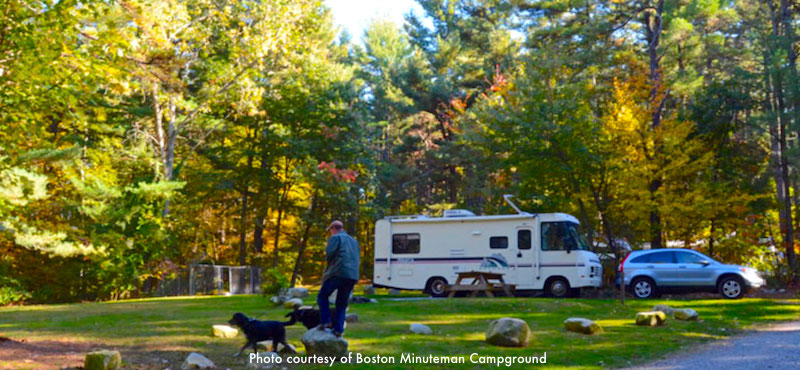 Massachusetts RV Parks and campgrounds near Boston