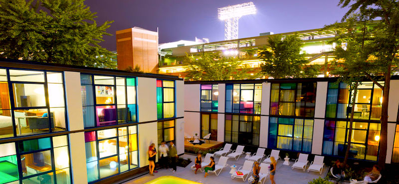 Verb Hotel in Boston, next to Fenway Park