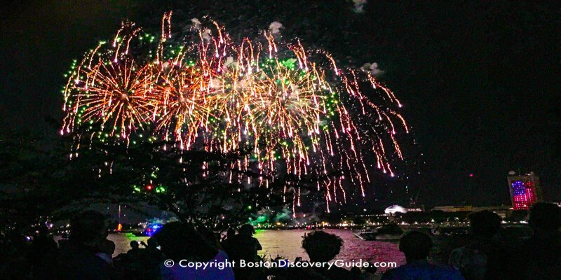 Fireworks over the Charles River