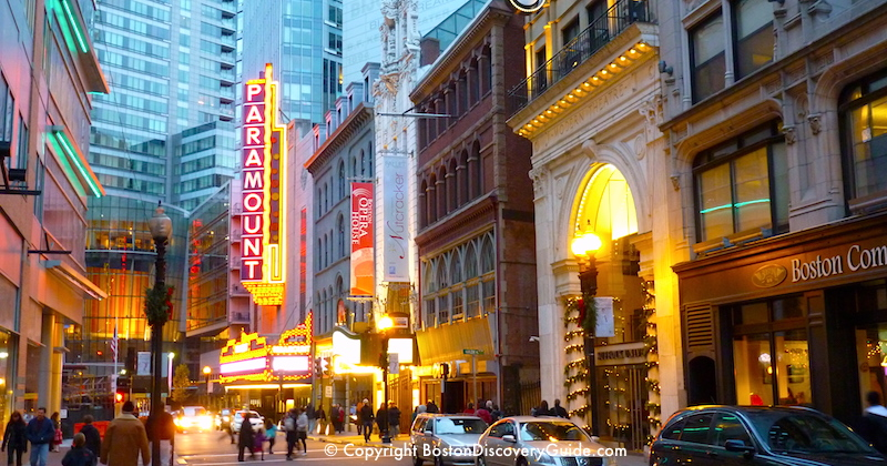 Boston Theatre District Shows - schedule and tickets