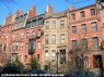 Back Bay Boston mansions in March