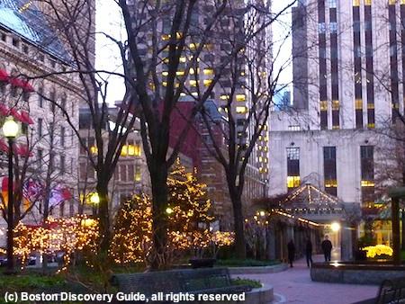 January scene in Boston's Post Office Square