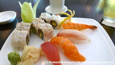 Sushi and sashimi at Basho - a surprising Cheap Eats near Fenway Park