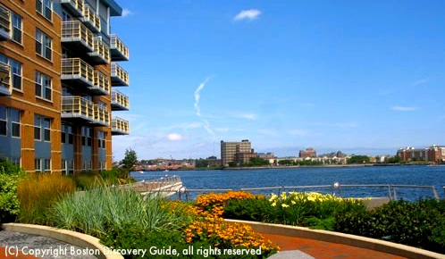 Photo of Battery Wharf Boston Hotel view across Boston Harbor