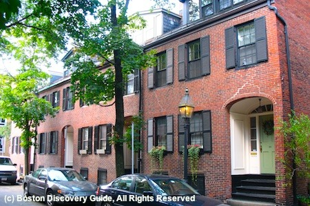 Bay Village, Boston, homes on Fayette Street