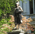 Freedom Trail in Boston - Benjamin Franklin Statue
