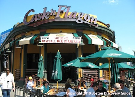 Cask 'n Flagon at Boston's Fenway Park / Boston Bars near Fenway - www.boston-discovery-guide.com