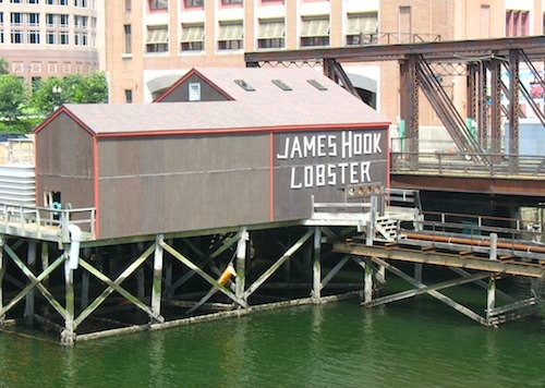James Hook Lobster near the Boston Children's Museum / www.boston-discovery-guide.com