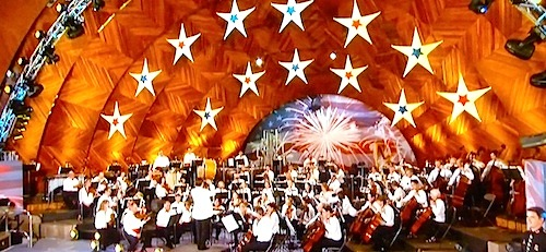 July 4th concert at Boston's Hatch Shell