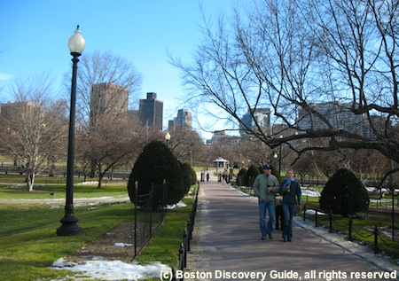 Boston's Public Garden in February
