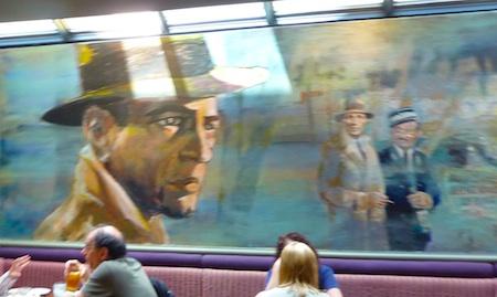 Boston Film Festival - Bogart Mural in Casablanca Restaurant in Cambridge