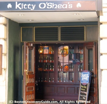 Irish pubs in Boston include Kitty O'Shea's in the Downtown Financial District