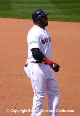Photo of David Ortiz during a Red Sox game against the Tampa Rays