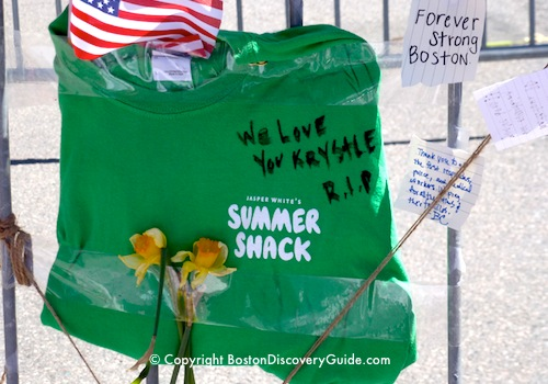 Boston Marathon Bombing Memorial to Krystle Campbell