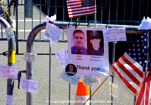 Boston Marathon Memorial to MIT Police Officer Sean Collier