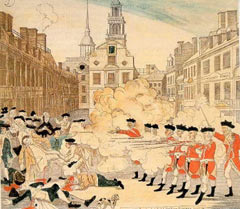Boston Massacre engraving by Paul Revere - Public Domain