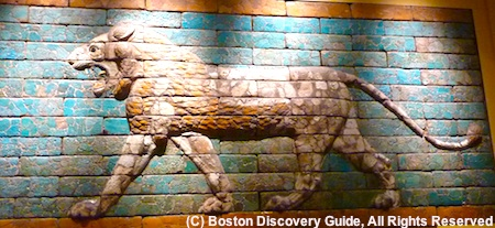 Visit Boston museums, such as the Museum of Fine Arts, where this mural is displayed
