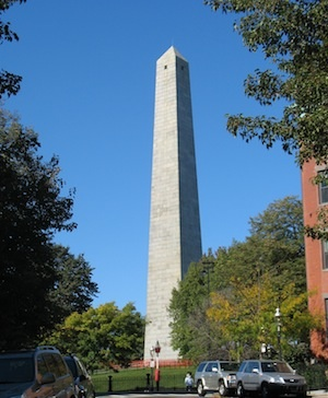 Bunker Hill Monument in the Boston neighborhood of Charlestown / Boston Neighborhoods - www.boston-discovery-guide.com