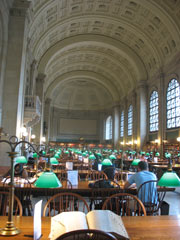 Boston Public Library - vaulted reading room