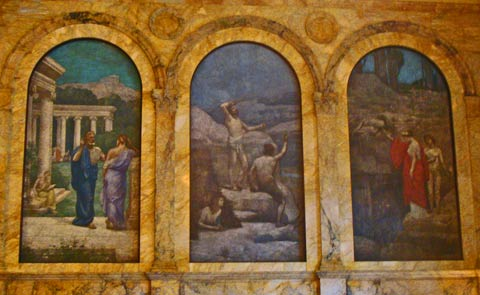 Boston Public Library - detail of mural