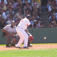 David Ortiz at the bat for Boston Red Sox / Boston Sports - www.boston-discovery-guide.com