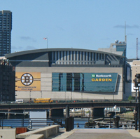 TD Garden, photographed from Charlestown / Boston Sports - www.boston-discovery-guide.com