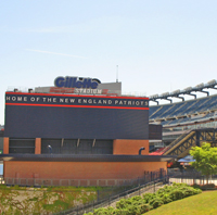 Gillette Stadium in Foxboro / Boston Sports - www.boston-discovery-guide.com