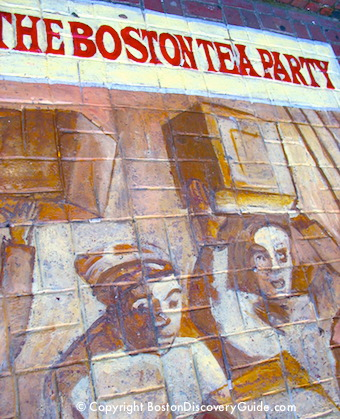 Boston Tea Party Sign outside Old South Meeting House