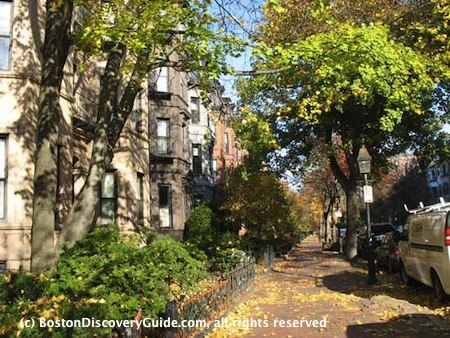 Marlborough Street in Back Bay, Boston, Nov 6