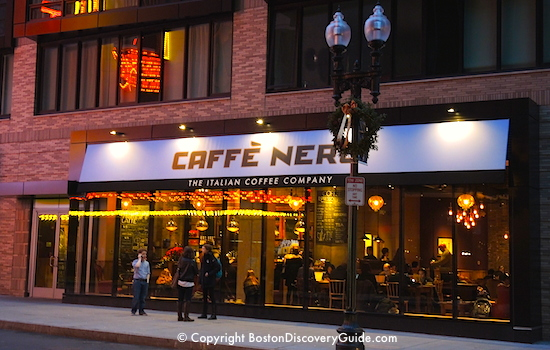 Caffe Nero, in Boston's Theatre District near Downtown Crossing
