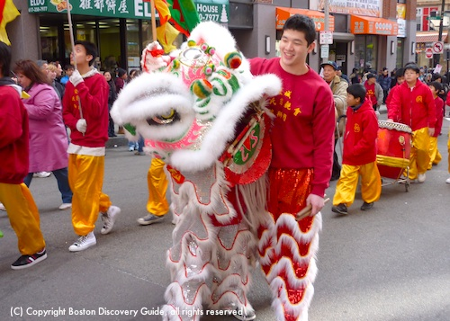 Chinese New Year Parade in Boston's Chinatown