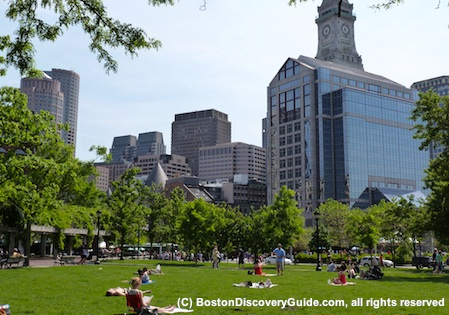 Christopher Columbus Park in Boston's North End