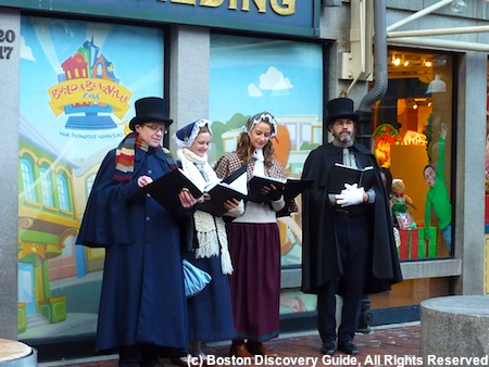 Christmas in Boston Carolers