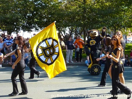 Bruins Bear in Boston Columbus Day Parade