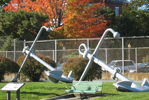 Anchors in Charlestown Navy Yard near Constitution Inn