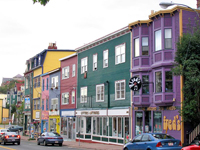 Colorful wooden houses in St John's, Newfoundland, Canada - photo courtesy of Aconcagua / Cruises from Boston to Europe - www.boston-discovery-guide.com