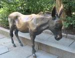 Donkey symbolizing Democratic Party Outside Old City Hall, Boston