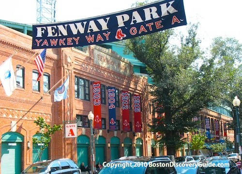 Photo of Gate A at Fenway Park in Boston