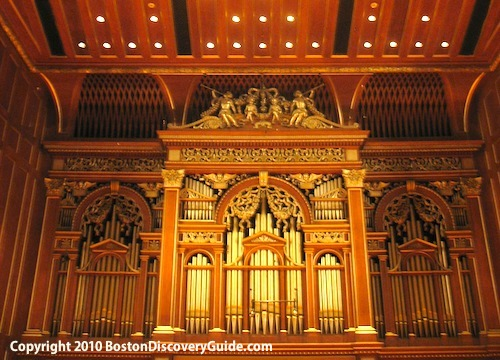 Inside Jordan Hall at New England Conservatory in Boston