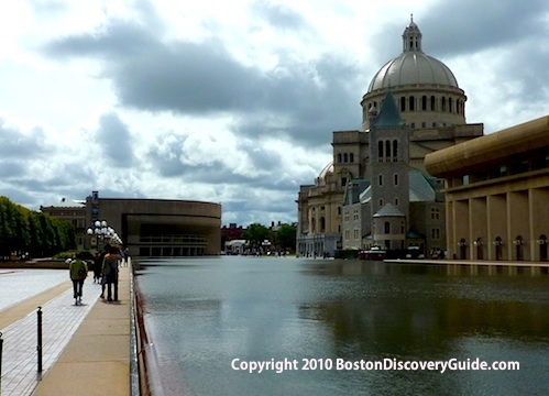 Christian Science Mother Church, seen from across the Reflecting Pool