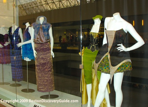 Fashion creations by Fenway's Mass Art students on display at Chestnut Hill Mall