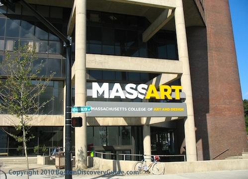 Photo of Massachusetts College of Art and Design in Boston's Fenway neighborhood