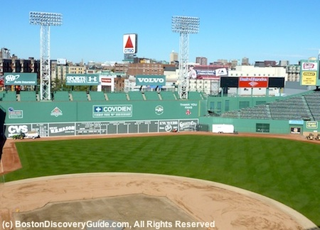 Fenway Park Tour - view from Green Monster