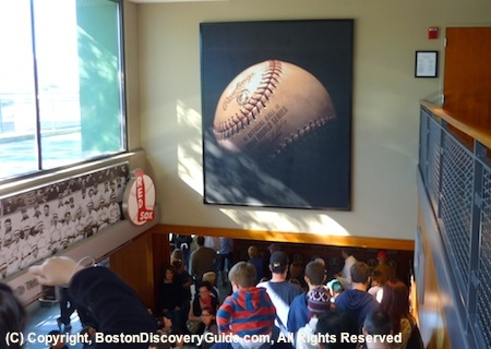 Photograph of World Series baseball in Fenway Park Hall of Fame / Fenway Park Tour - www.boston-discovery-guide.com