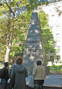 Ben Franklin parents' obelisk - Granary Burying Ground
