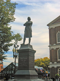 Faneuil Hall Marketplace in Boston - Samuel Adams statue