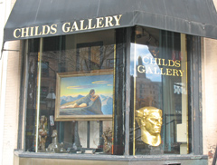 newbury street art galleries in boston include childs gallery
